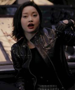 saya-kuroki-leather-jacket