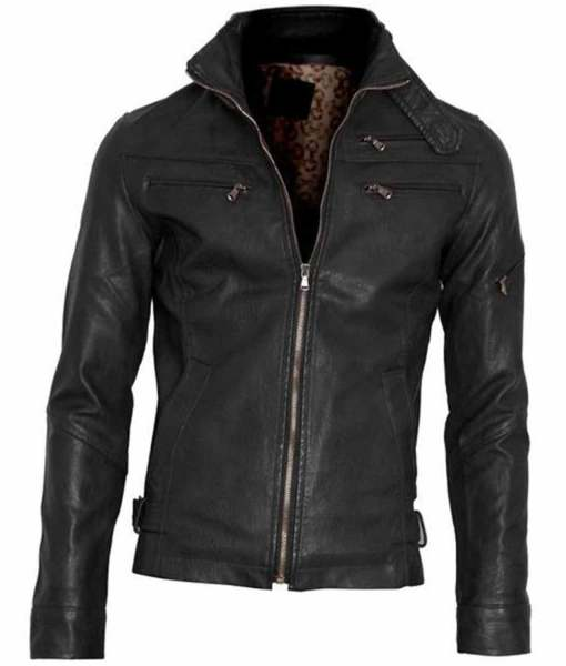 black-faux-leather-jacket