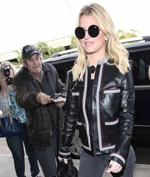 jessica-simpson-striped-leather-jacket