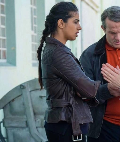 mandip-gill-doctor-who-yasmin-khan-brown-leather-jacket