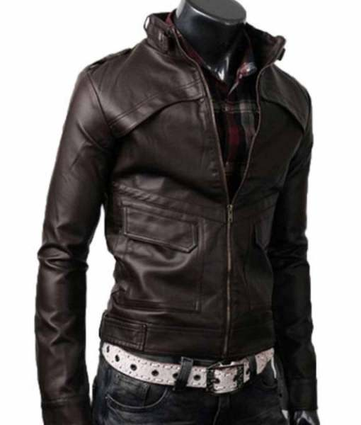 mens-slim-fit-dark-brown-leather-jacket