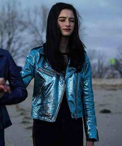 raffey-cassidy-vox-lux-leather-jacket