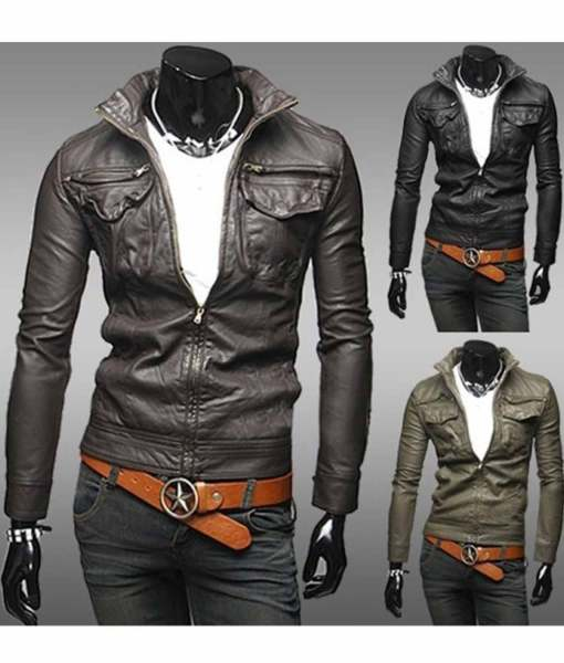 slim-fit-faux-leather-jacket