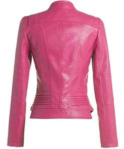 womens-biker-hot-pink-leather-jacket
