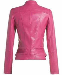 womens-biker-hot-pink-leather-jacket