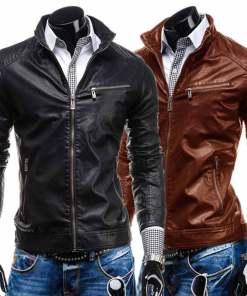 zipper-pocket-leather-jacket