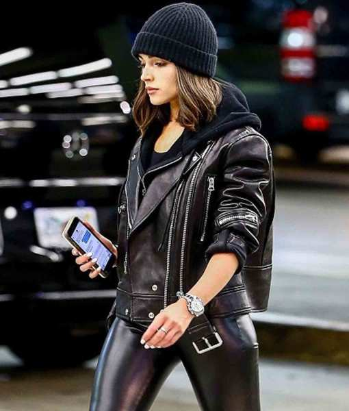 belted-biker-olivia-culpo-leather-jacket