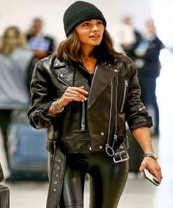 biker-olivia-culpo-leather-jacket