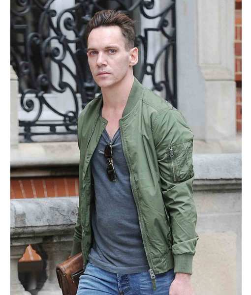 jonathan-rhys-meyers-bomber-green-jacket