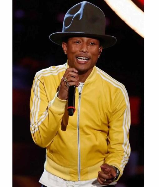 striped-design-pharrell-williams-yellow-bomber-jacket