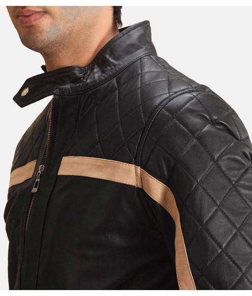 striped-diamond-quilted-mens-black-bomber-jacket