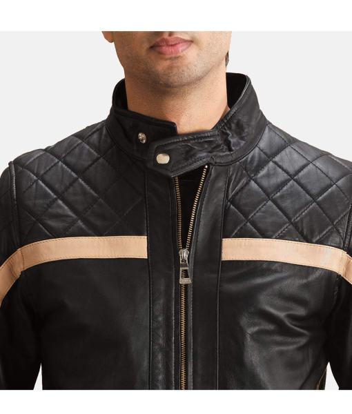 striped-diamond-quilted-mens-black-leather-jacket