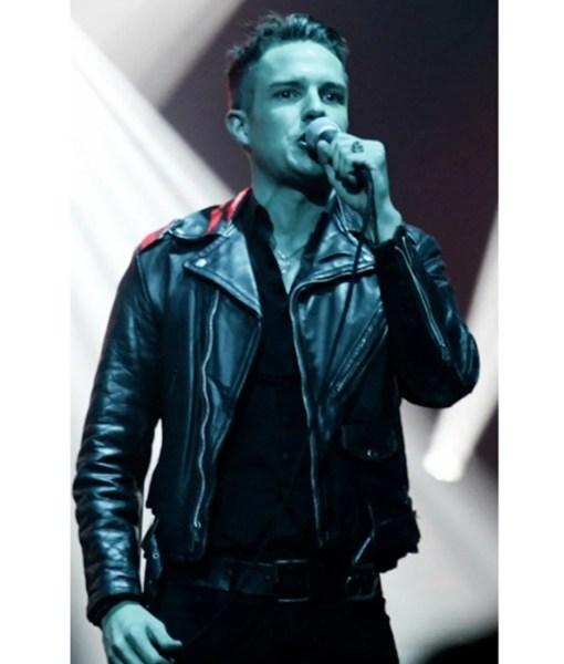 brandon-flowers-black-leather-jacket