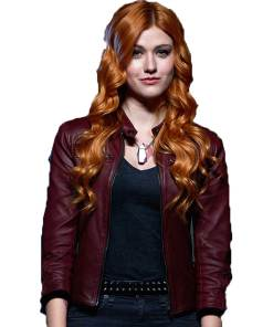 clary-fray-red-leather-jacket