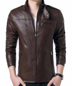 brown-faux-formal-leather-jacket