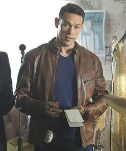 dan-espinoza-brown-leather-jacket