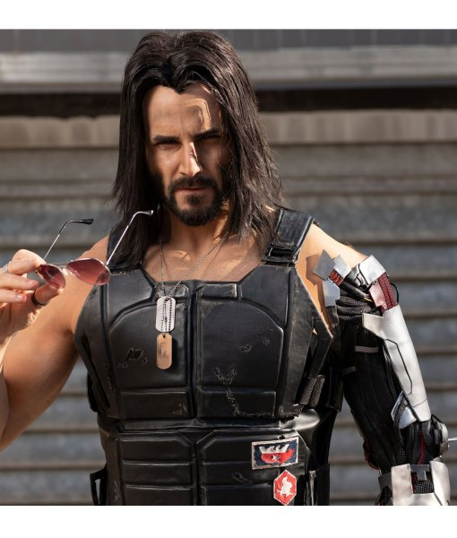 johnny-silverhand-leather-black-vest