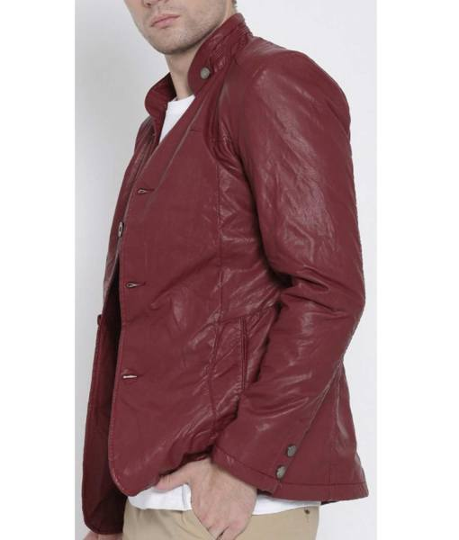 maroon-leather-blazer