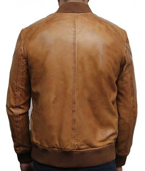 mens-designer-waxed-bomber-tan-brown-leather-jacket