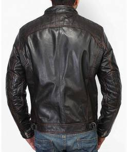 mens-stand-collar-black-leather-biker-jacket