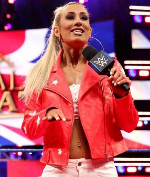 wwe-carmella-red-leather-jacket