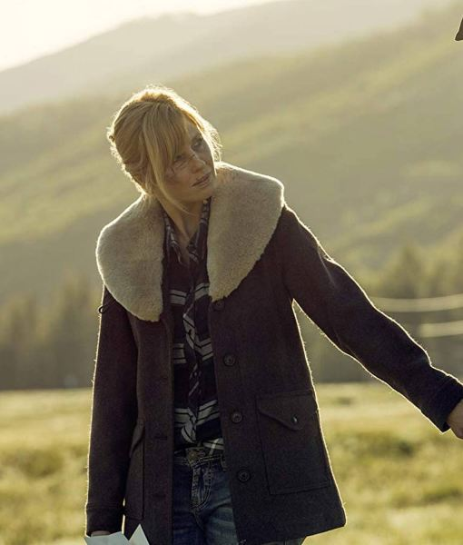 yellowstone-kelly-reilly-fur-shawl-collar-jacket