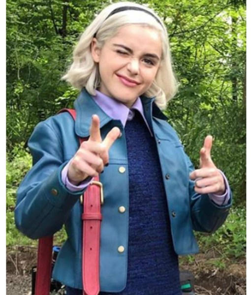 chilling-adventures-of-sabrina-blue-leather-jacket