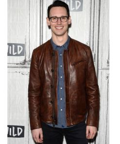 gotham-edward-nygma-brown-leather-jacket
