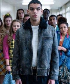 sex-education-season-2-rahim-leather-jacket