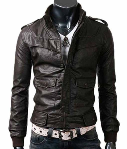slim-fit-dark-brown-leather-jacket