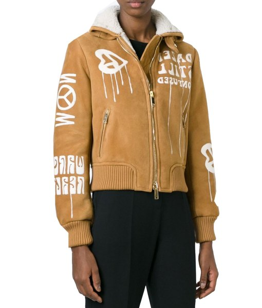 gigi-hadid-camel-suede-bomber-jacket