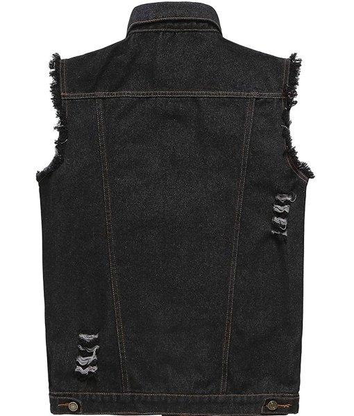 mens-black-denim-vest