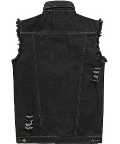 mens-black-denim-vest
