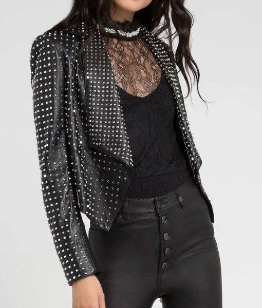 trhobh-kyle-richards-studded-black-leather-jacket