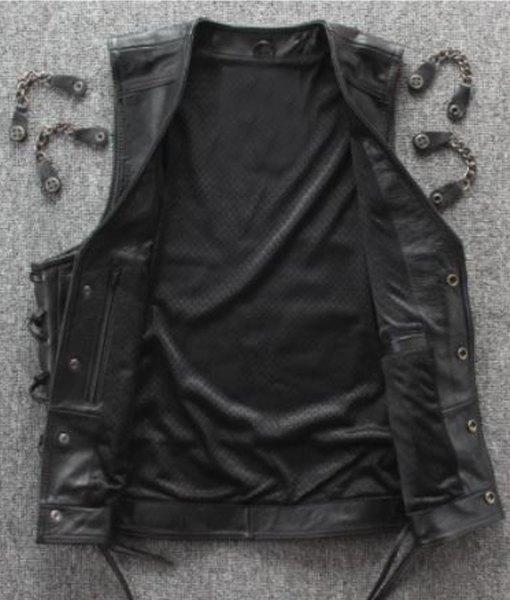 mens-laces-biker-chain-leather-vest