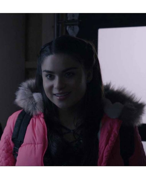 devery-jacobs-the-lie-britney-puffer-pink-coat
