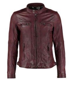 mens-burgundy-waxed-leather-jacket