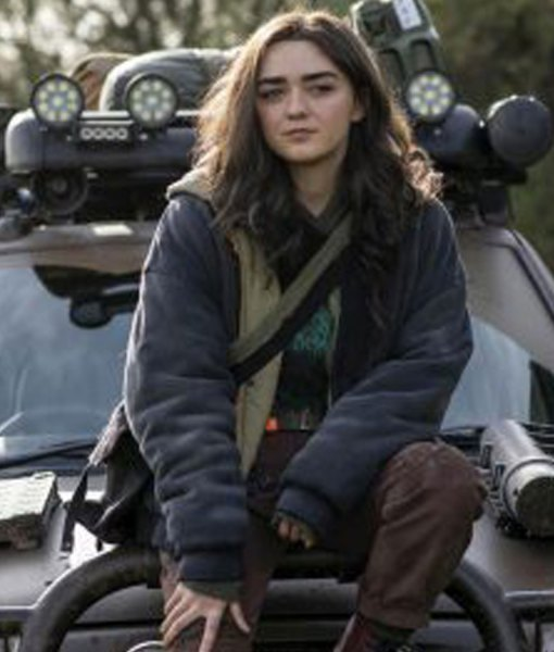 two-weeks-to-live-maisie-williams-blue-jacket