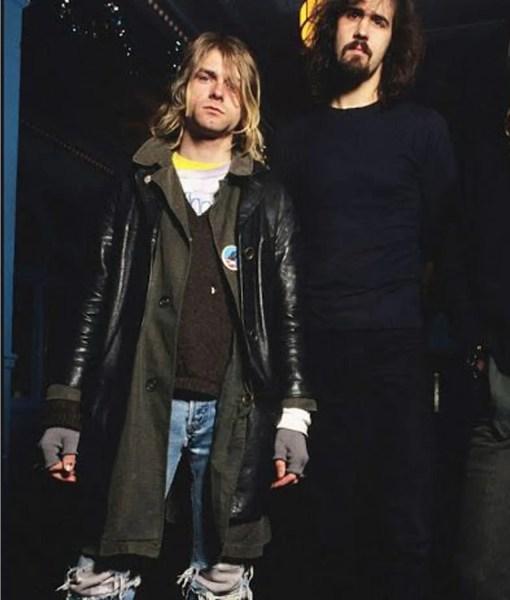 kurt-cobain-black-leather-coat