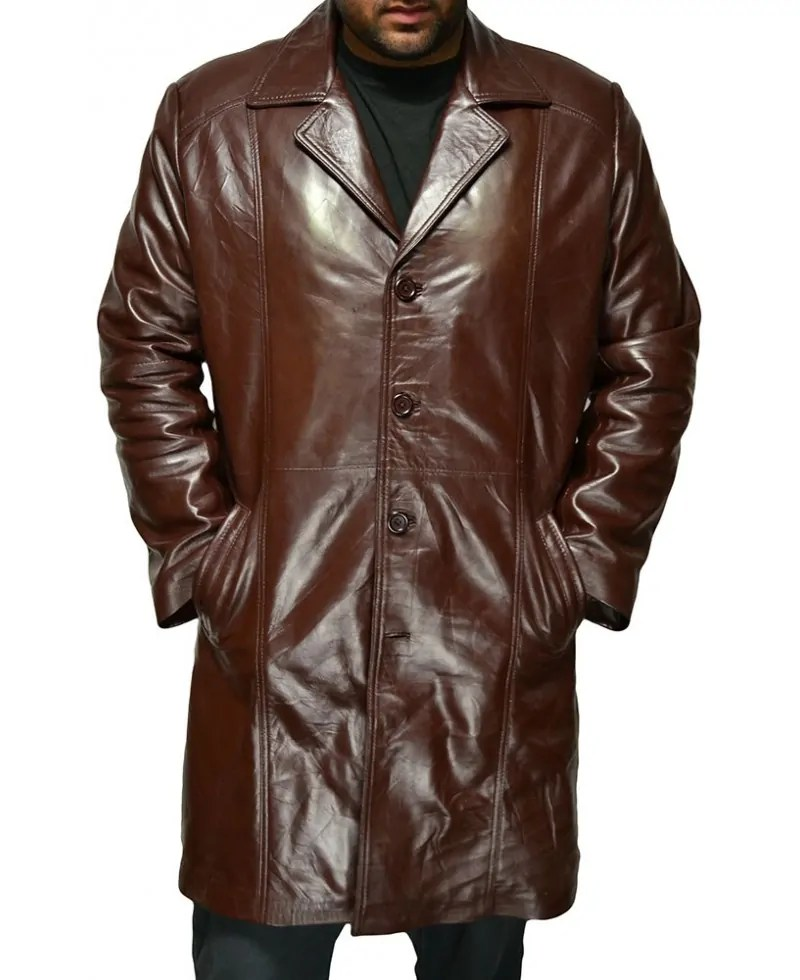 Men's Fashion Brown Long Coat – Jackets Maker