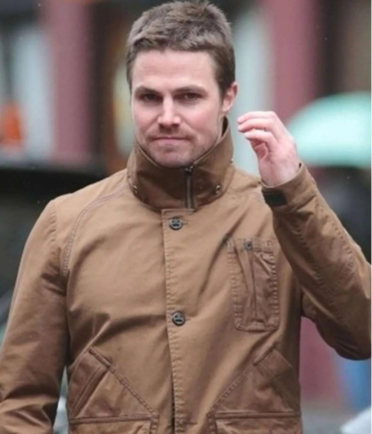 arrow-oliver-queen-brown-cotton-jacket