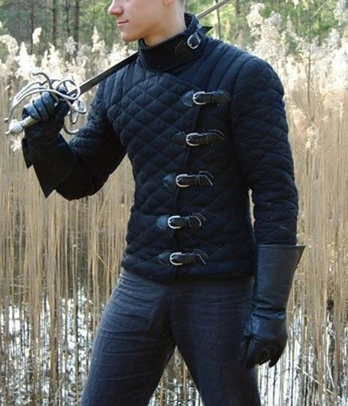 gambeson-medieval-diamond-quilted-jacket