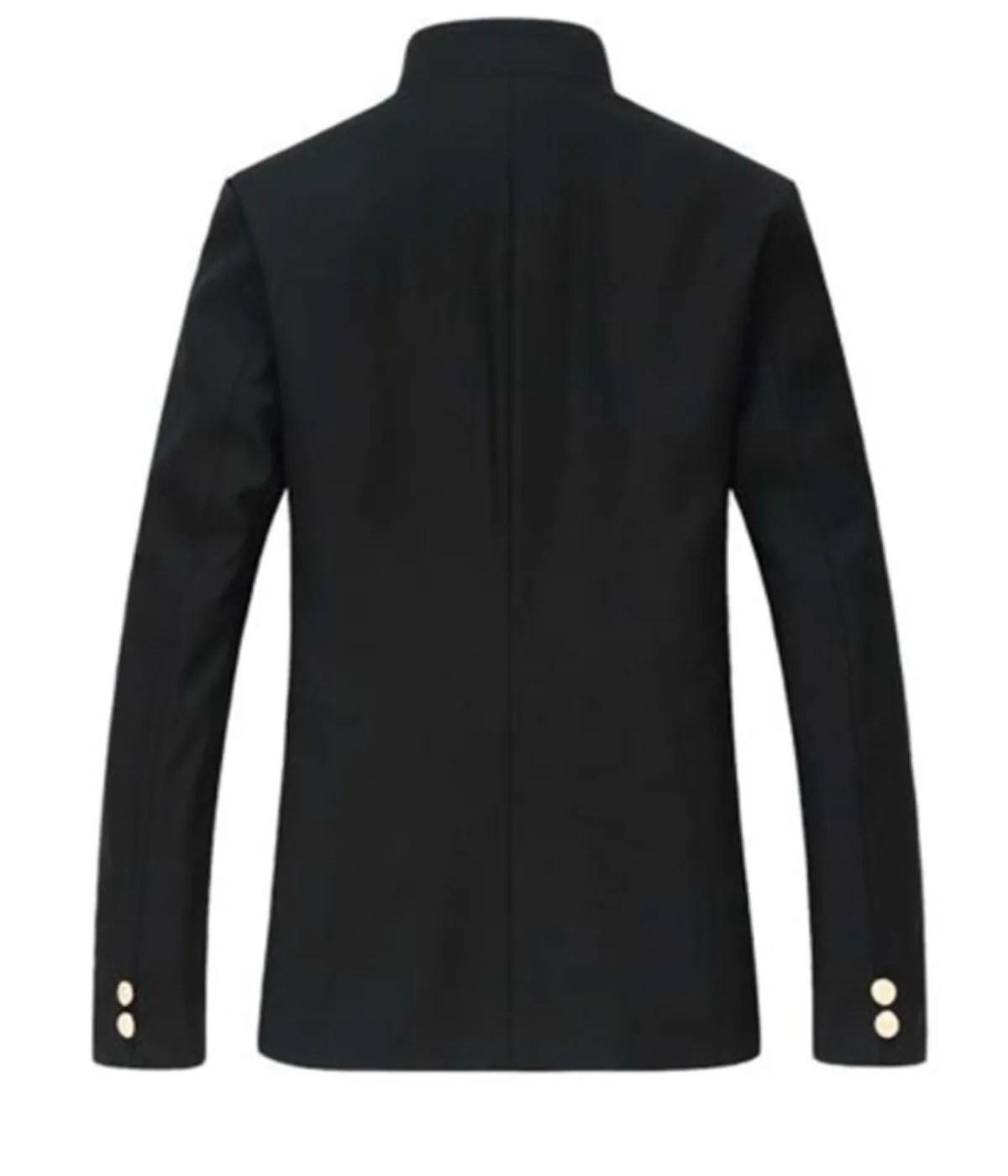 mens-black-slim-fit-tunic-jacket