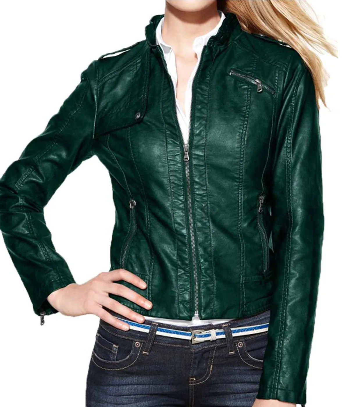 womens-green-motorcycle-leather-jacket