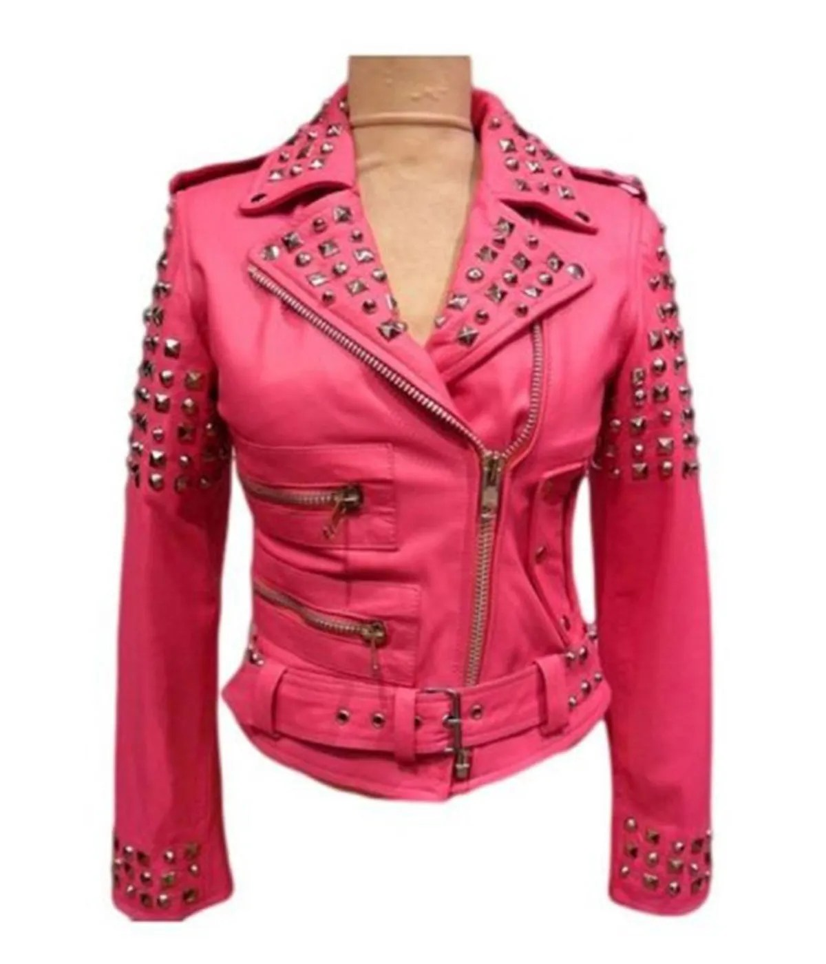 womens-studded-pink-leather-jacket