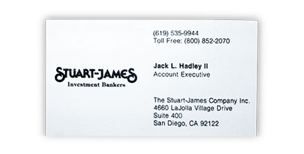 Jack Hadley Stuart James Brokerage