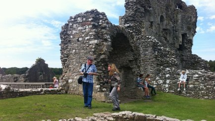 Mike and Jackie at Ogmore Castle