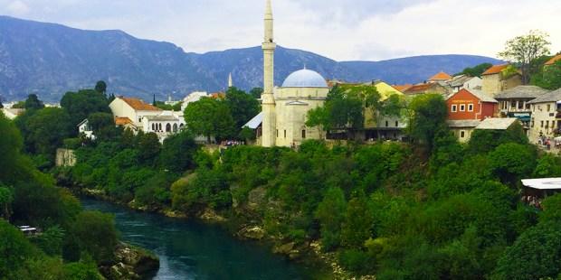 View from Stari Most, Mostar, Bosnia & Herezgovina