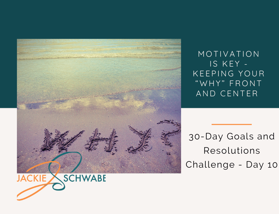 "10. Motivation Is Key- Keeping Your ""Why"" Front and Center"