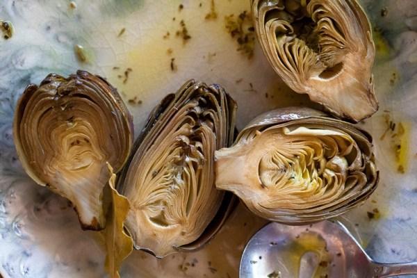 Recipe for Italian Style Marinated Baby Artichokes